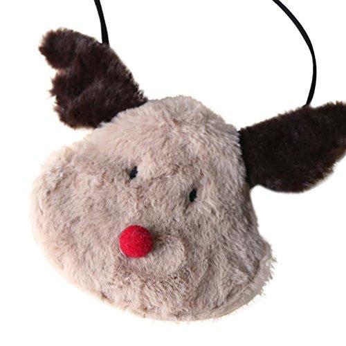 Deer Bolsa Christmas Bolsa de Hombro Bolsos Mochilas Mujer Almacenamiento Marrón de Solo de ✦JiaMeng wtdIwqzxS
