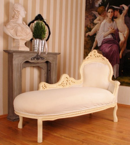 Recamiere Chaiselongue large sofa vintage chaise longue recamiere shabby chic white palazzo