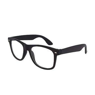 73b462216c Dervin Black Frame Clear Shade Wayfarer Sunglasses for Men   Women  Amazon. in  Clothing   Accessories