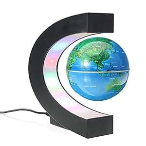 Meco globos terr queos mapa mundial levitaci n magn tica electr nica flotante led luz giratorio - Globos terraqueos barcelona ...