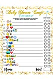 Baby Shower Games - 40 Cards Emoji Pictionary, Fun Guessing Game Girls Boys Babies Gender Neutral Ideas Shower Party, Prizes for Game Winners, Favorite Adults Games for Baby Shower Favors Activities: more info