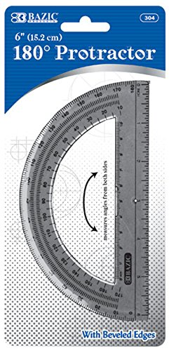 Bazic Semicircular 6'''' Protractor Case Pack 24 Computers, Electronics, Office Supplies, Computing