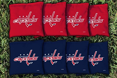 Victory Tailgate 8 Washington Capitals Nhl Cornhole Game Bag Set  8 Bags Included  Corn Filled
