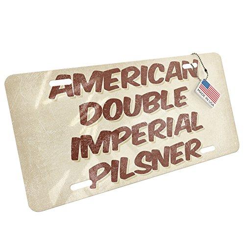 NEONBLOND Metal License Plate American Double Imperial Pilsner Beer, Vintage style