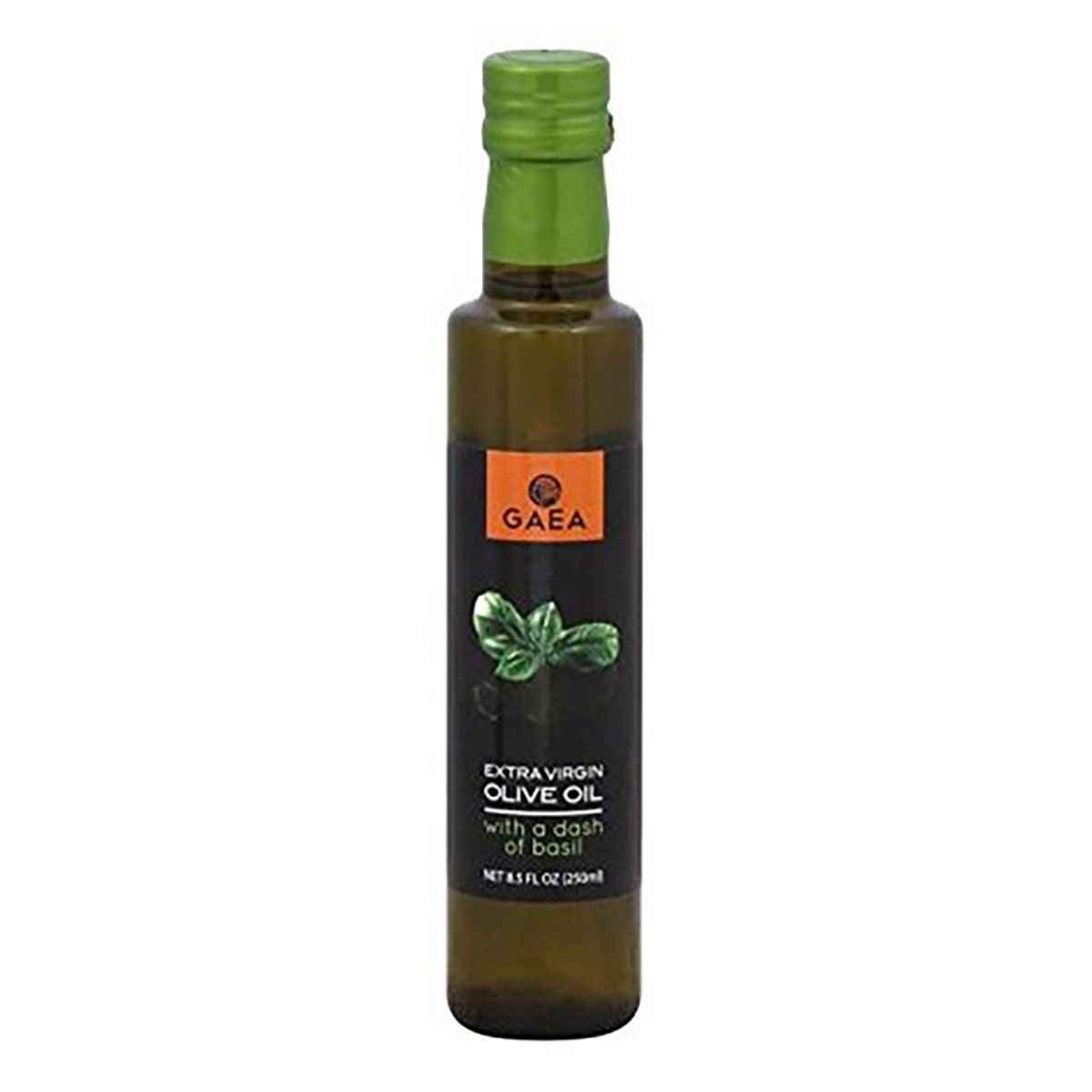 GAEA Extra Virgin Olive Oil; Basil , Pack of 8