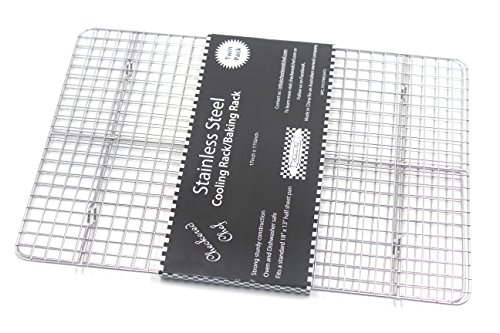 Checkered Chef Cooling Rack Baking Rack Twin Set. Stainless Steel Oven and Dishwasher Safe Wire Rack. Fits Half Sheet Cookie Pan by Checkered Chef (Image #6)