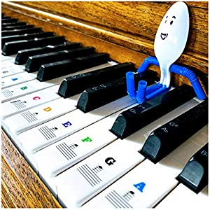 Little Xen* (our spoon-person mascot) LOVES Xentyx's piano stickers, and you will too! These are high quality piano stickers made for all piano types from 49/61/76/88 key layouts. This is the perfect addition for kids or any beginner learning to play...