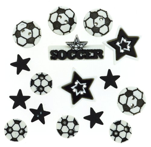 Dress It Up 418 Soccer Embellishment for (Soccer Ball Button)