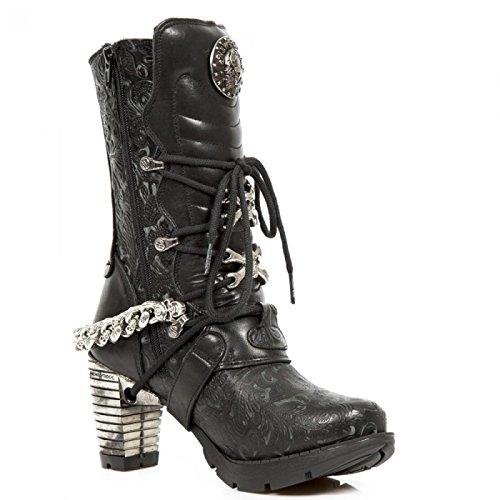 New Rock Boots M.tr074-c1 Gotico Hardrock Punk Damen Stiefel Schwarz