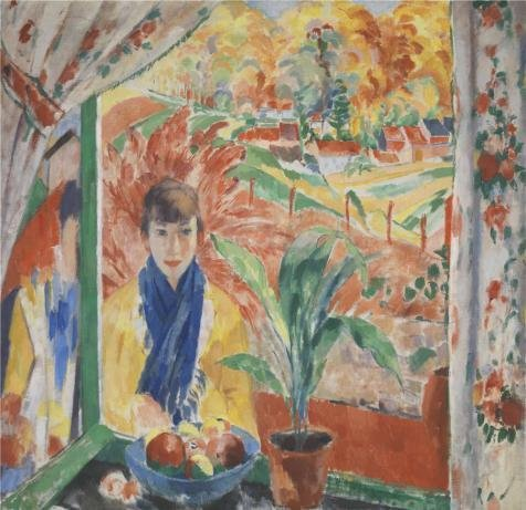 High Quality Polyster Canvas ,the Reproductions Art Decorative Prints On Canvas Of Oil Painting 'Rik Wouters - The Autumn, 1913', 20x21 Inch / 51x52 Cm Is Best For Dining Room Decor And Home Artwork And (Viper Vampire Adult Mask)