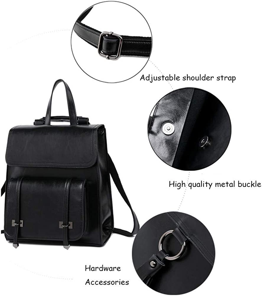 Backpacks Women Satchel Soft PU Leather School Rucksack Multipurpose Fashion Rucksack Travel Bag Handbag