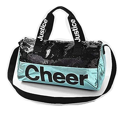 Justice Girls Powder Blue Reversible Sequin Cheer Duffel Bag]()