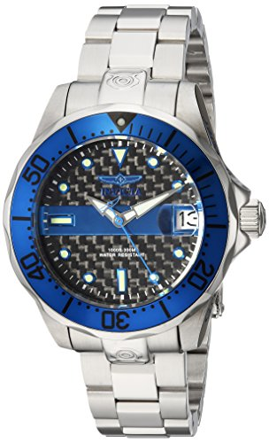 Invicta Women's 'Pro Diver' Automatic Stainless Steel Diving Watch, Color:Silver-Toned (Model: 23151) by Invicta