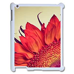 wugdiy Custom Case for iPad2,3,4 with Personalized Design Fire Sunflower
