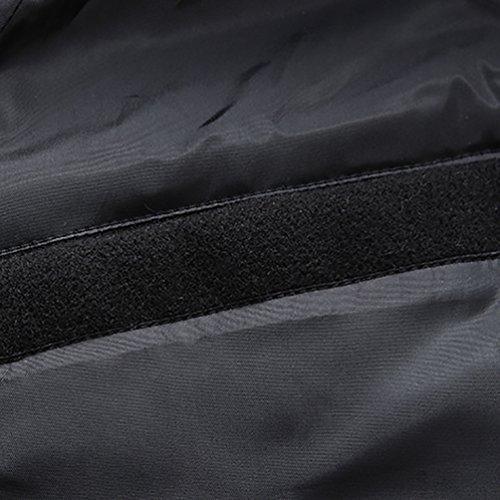 de del Tamaño Negro YiJee Hombres Soltero Otoño de Abrigo Capa Botonadura la Chaqueta Gran Invierno Fosa de EqEtX