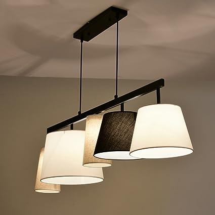 LW Modern Home Iron Chandelier Cloth Shade Dining Room Length 117CM E27 Light Do