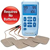 Premier Plus Rechargeable TENS Machine for pain relief - Combined with Muscle & Neuromuscular Simulation - 24 Easy To Use programmes-Supplied With 3 Extra Packs Of Self Adhesive pads - Lifetime Warranty