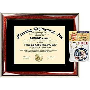 amazon com certificate frame university diploma frames wood glossy