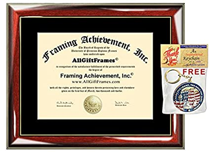 Amazon.com - Certificate Frame University Diploma Frames Wood Glossy ...
