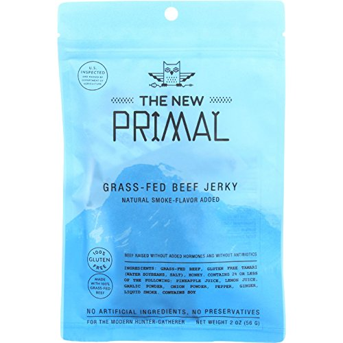 The New Primal Paleo Friendly Grass-Fed Beef Jerky, Original, 2 Ounce