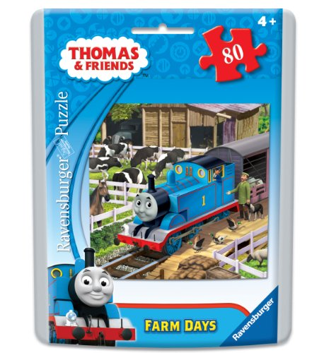 (Ravensburger Thomas & Friends Farm Days Puzzle in an Easy-Seal Pouch, 80-Piece)