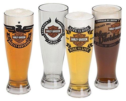 - Harley-Davidson Bar & Shield Acrylic Pilsner Glasses Set, 22 oz. HDL-18775
