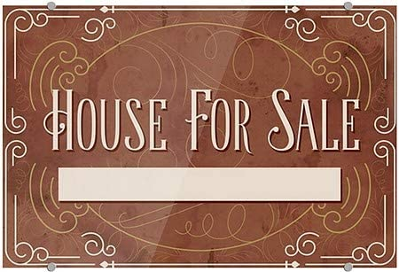 Victorian Card Premium Acrylic Sign 27x18 5-Pack CGSignLab House for Sale