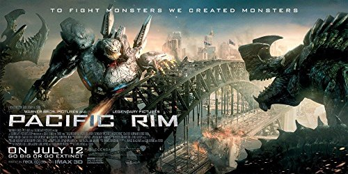 Pacific Rim movie poster family silk wall print 28 inch x 13 inch (Pacific Rim Movie Poster)