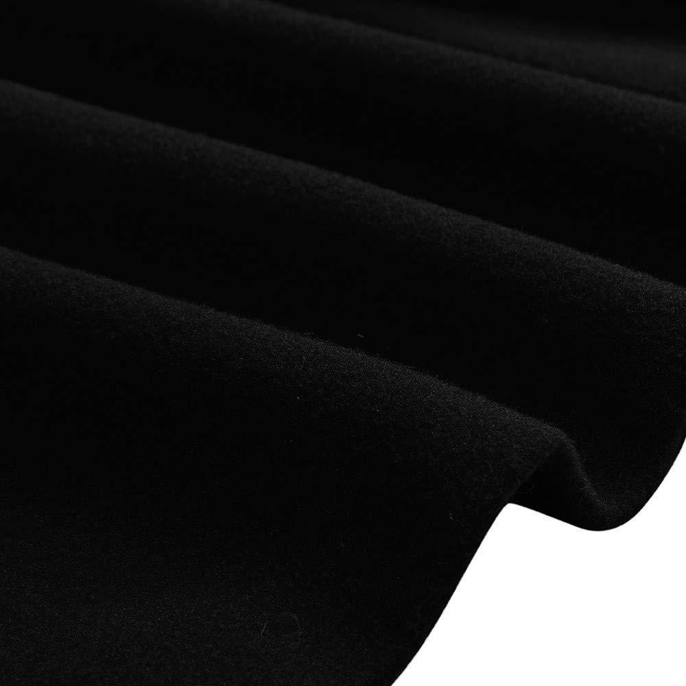 Hommes Veste Hiver Chaud Longues Tailles fête de Vêtements Outwear Bouton Manteau Manteaux Manteaux Manteau D Hiver Veste Matelassée vers Le Bas Parka Manteaux Manteaux Schwarz
