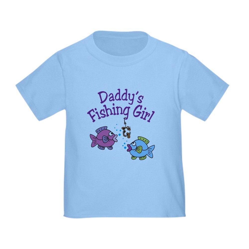 CafePress - Daddy's Fishing Girl - Cute Toddler T-Shirt, 100% Cotton