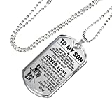 Bushido Japan - Samurai Warrior Dog Tag To My Son Necklace Jewelry - HOT TREND - LIMITED EDITION- Personalized Gifts For Kid on Birthday Anniversary