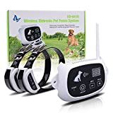 Wolfwill Upgraded Version Wireless Dog Fence System 2 Receivers with Rechargeable Waterproof Collar 500M Radius Remote Control