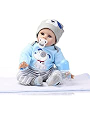 "22"" 55cm CUTE BOY Real Looking Newborn Baby Realistic Handmade Vinyl Reborn Doll"