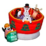 6.2 Foot Lighted Wheel Of Fun Animated Airblown Inflatable