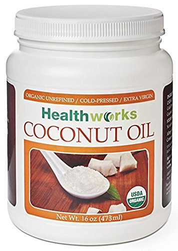 Healthworks Coconut Oil 16oz, Organic Extra Virgin