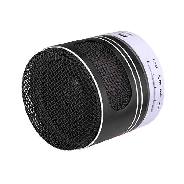 zycShangMini Bluetooth Président LED USB Lumière sans Fil Portable Boîte à Musique Subwoofer (Noir) 4
