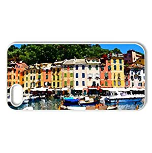 Houses - Case Cover for iPhone 5 and 5S (Houses Series, Watercolor style, White)