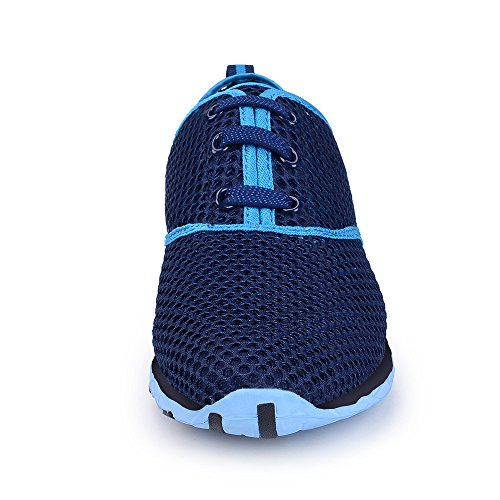 Breathable Water 17 Drying Dark Shoes IceUnicorn Blue On Trainers 8UK 41EU Mesh Ladies Shoe Aqua Womens Slip Quick AqZwOywP5