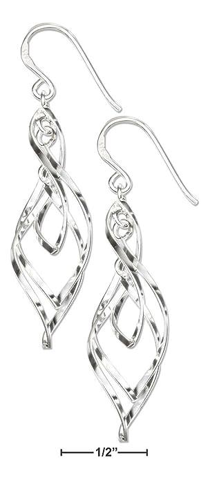 Sterling Silber dreifach gedreht, französischer Draht-Design ...