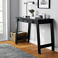 Logan Writing Desk with 1 Drawer storage in Black