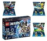 Lego Dimensions DC Comics Super Heroes Starter Pack + Superman + Batman + Aquaman Fun Packs for Playstation 3 PS3 Console
