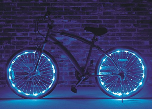Brightz, Ltd. Blue Wheel Brightz LED Bicycle Light (2-Pack Bundle for 2 Tires) (Bike Tire Lights compare prices)