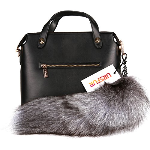 Fox Trading Cards (URSFUR Silver Blue Fox Tail Fur Bag Charm)