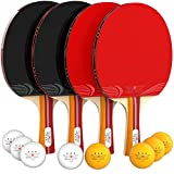 Toys : NIBIRU SPORT Ping Pong Paddle Set (4-Player Bundle), Pro Premium Rackets, 3 Star Balls, Portable Storage Case, Complete Table Tennis Set with Advanced Speed, Control and Spin, Indoor or Outdoor Play