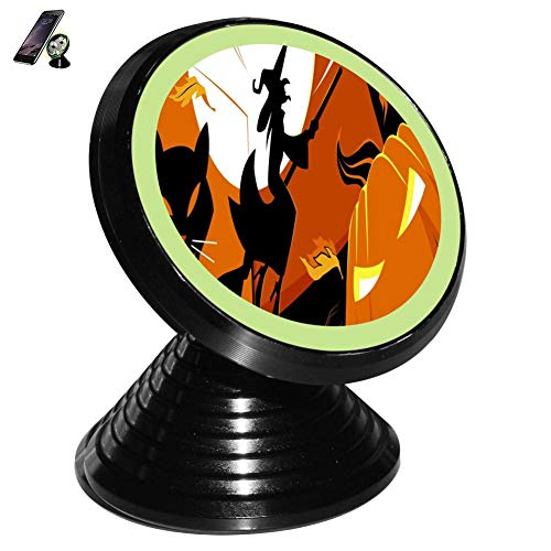 The Carnival of Halloween Magnetic Vehicle Mounted Mobile Phone Bracket Holder 360 with Noctilucent Function