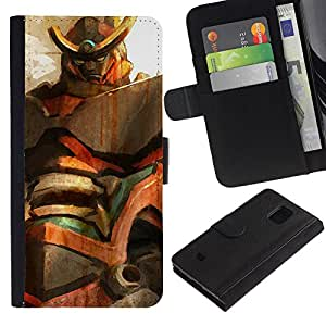 NEECELL GIFT forCITY // Billetera de cuero Caso Cubierta de protección Carcasa / Leather Wallet Case for Samsung Galaxy S5 Mini, SM-G800 // Mech Gundam