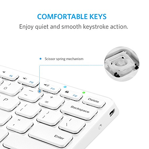 Anker Bluetooth Keyboard Android: Anker Ultra Compact Slim Profile Wireless Bluetooth Keyboard For IOS, Android, Windows And Mac
