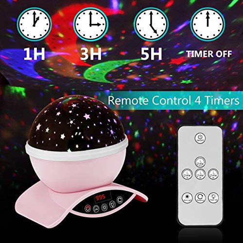 Star Projector with Timer USB Rechargeable /& Remote Control Amouhom Night Light Lamp Gifts for Kids Adults Rotating Bedside Lamp Green