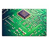 MSD Natural Rubber Large Table Mat Image ID 27004624 Vintage looking Detail of an electronic printed circuit board