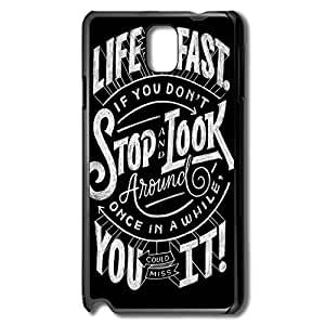 Samsung Note 3 Cases Life Moves Pretty Fast Design Hard Back Cover Shell Desgined By RRG2G